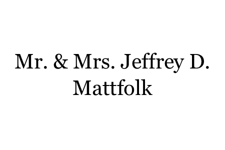 E - Mattfolk, Mr. & Mrs. Jeffrey